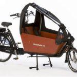 Tent cargobike long all-open matzwart, deze tent kan haast helemaal open.